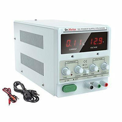 Dr.meter 30V/5A DC Bench Power Supply Single-Output 110V/220V Switchable with...