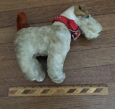 Excellent Mid-Sized Vintage Stuffed (Mohair?) Airedale Terrier (Dog), Doll, Toy