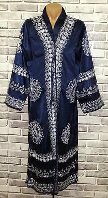 Beautiful Main Uzbek Silk Embroidered Chapan Robe Jacket Smooth Mild Light A9709