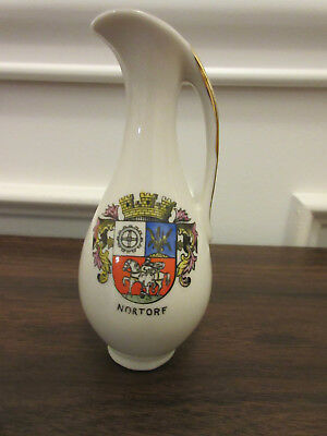 VINTAGE SMALL VASE -- 1960s -- MADE IN GERMANY, BAVARIA -- WITH COAT OF ARMS