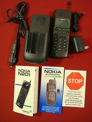 VINTAGE Nokia Cell Phone N201 1993, Great shape!  Needs battery.