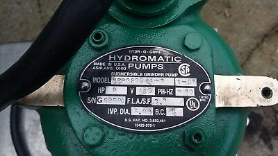 HYDROMATIC Submersible Grinder Pump 2HP Copper Alloy NSPG200 14-2