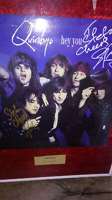 Quireboys Hey You Maxi  Autogramm Signed Spike und Griff TOP !