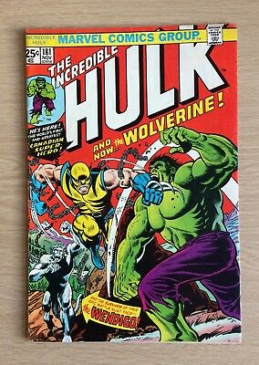 Hulk 181 First Appearance Of Wolverine Key Gem 6.5 With Marvel Stamp! Comics