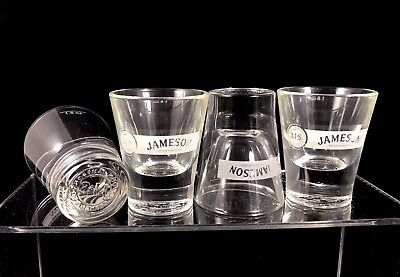 Brand New Set of 4 Jameson & Son Irish Whiskey Round Bottom Shot Glasses 1.5 Oz