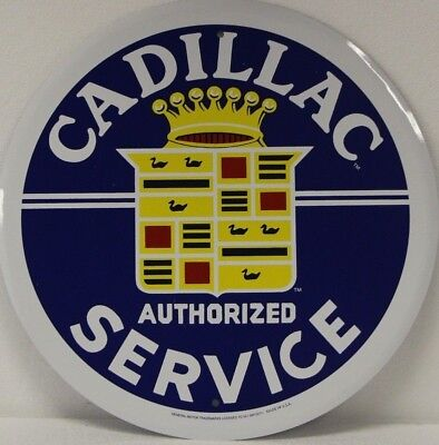 """CADILLAC AUTHORIZED SERVICE 12"""" vintage style logo Metal Sign              rd-63"""