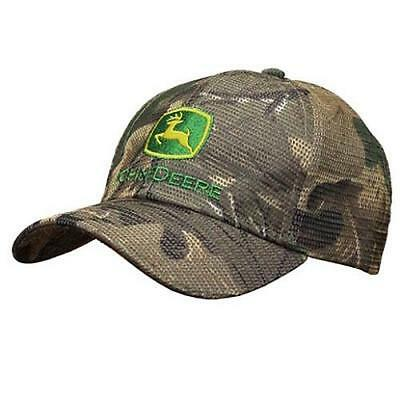 John Deere Mens Reflective Mesh Camo Hat/Cap With Embroidered Logo 13080412