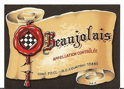 "DEALER'S LOT of 20 Vintage French WINE Labels: ~""BEAUJOLAIS"" NOS"