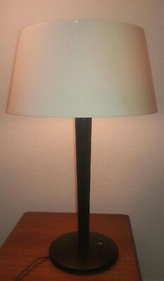 Rare Vintage Mid Century Mod 60's Lightolier Gerald Thurston table lamp w/shade!