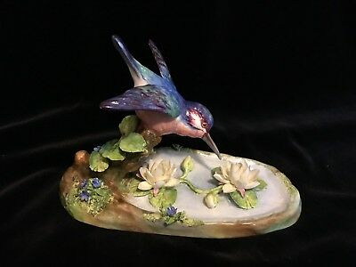 .  Details about   Crown Staffordshire KIng Fisher England Porcelain bird figuri