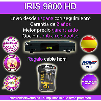 Iris 9800 Hd  Con Wifi+Regalo Cable Hdmi Mrw 24H + Regalo Usb 16Gb