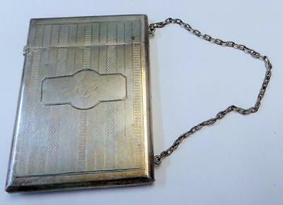 Monogrammed ANTIQUE  VICTORIAN STERLING SILVER WOMEN'S CALLING CARD CASE
