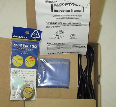 Brand New In Box Hakko FT-700-05 Tip Polisher with FS-100 - FREE SHIP
