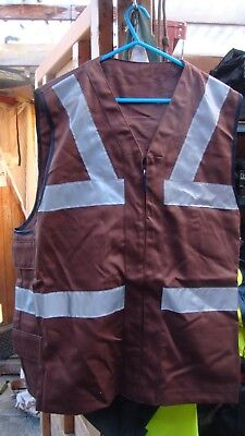royal navy aircraft carrier deck crew zip front  surcoat in brown new condition