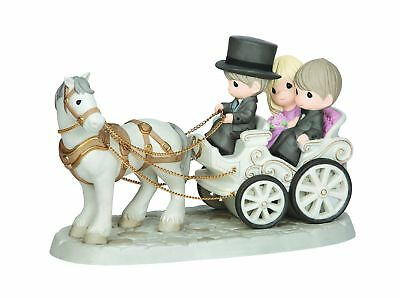 Precious Moments, Together Wherever We Go, Bisque Porcelain Deluxe Sculpture,...