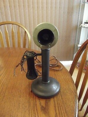Western Electric 40Al Candlestick Telephone With Bower Barff Finish