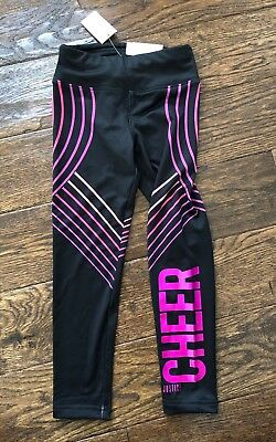 Girls Justice Active CHEER Leggings & Sports Bra Xs Size 6 Outfit 6x Cheerleader