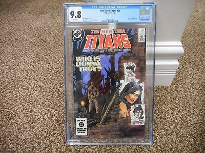 New Teen Titans 38 cgc 9.8 Origin Wonder Girl BLACK cover WHITE pgs MINT DC 1984