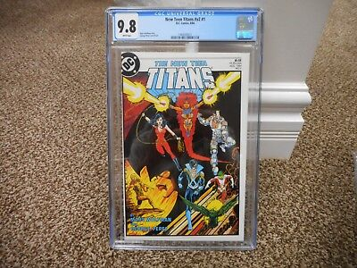 New Teen Titans 1 cgc 9.8 Great cover Cyborg Nightwing Starfire Wonder Girl MINT