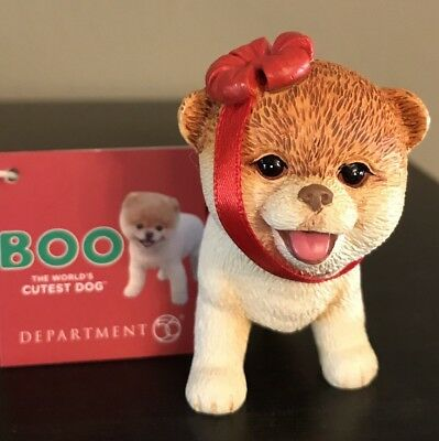 BOO Worlds Cutest Dog Christmas Tree Ornament NWT Department 56 Enesco