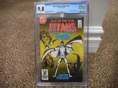Tales of the Teen Titans 49 cgc 9.8 Doctor Light Flash WHITE pages MINT DC 1984