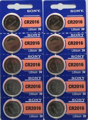 **FRESH NEW** 10 x SONY CR2016 Lithium Battery 3V Exp 2025 Pack 10 pcs Coin Cell