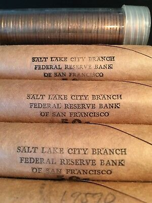 10 Rolls Lincoln Memorial Cent Uncirculated Penny Rolls 1959-D And 1963-D