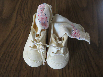 Vintage Vinyl/Rubber Doll Shoes and Socks