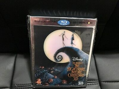 The Nightmare Before Christmas Blu-ray 3D/2D + DVD MINT w/Slipcover NO DIGITAL
