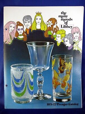 1971-72 Libbey Glass Catalog Many Moods of Libbey 44-page MCM Stemware Booklet