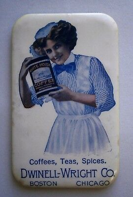 White House Coffee Advertising Pocket Mirror from the Early 1900's by Parisian