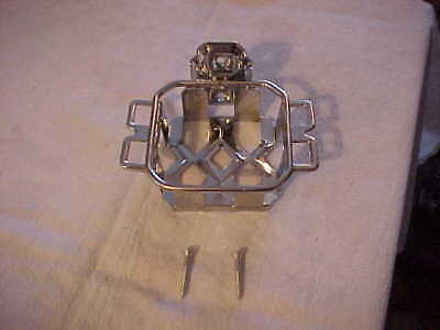 NOS New Old Stock Antique Art Deco EKCO Chrome Plated Toothbrush Tumbler Holder