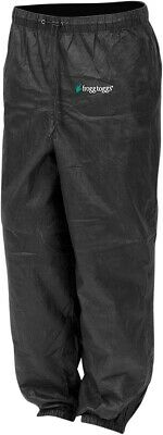 Frogg Toggs Pro Action Rain Pants Black PA83122-01LG Lg