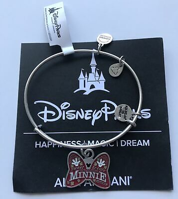 Disney Sweet and Cute Minnie Mouse Bangle by Alex and Ani Silver Finish New