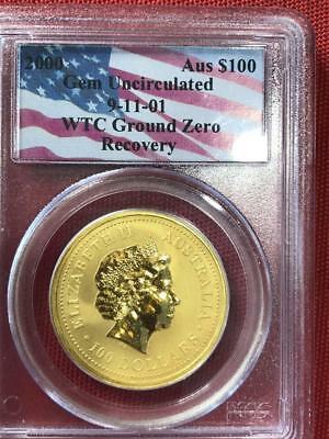 2000 Australian 1oz Gold Nugget Coin PCGS Recovered from WTC Ground Zero