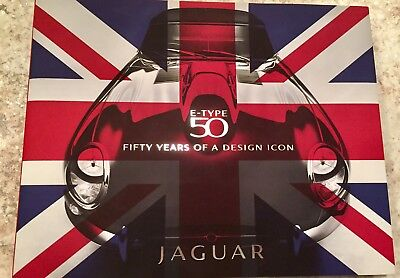Rare 1st edition Jaguar E-TYPE 50 years of a design icon hard bound book.