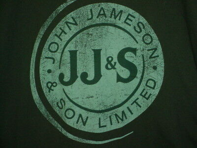 Jameson Irish Whiskey Seal T Shirt Xl Wide-Large Gildan Softstyle Cotton Green