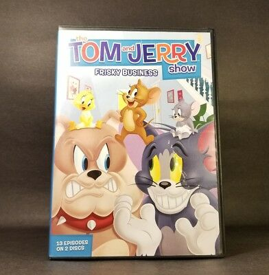The Tom and Jerry Show: Frisky Business (DVD, 2014, 2-Disc Set) Used GD Tested