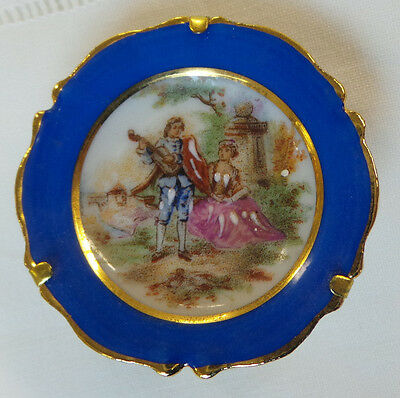 Antique Vintage Mini Hand Painted F M French Limoges Decorative Plate