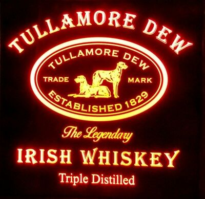 Tullamore Dew Irish Whiskey 12 x 12  Multi color LED Sign led box with remote
