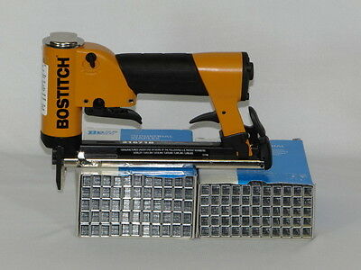 Upholstery Air Stapler, Bostitch 21671B Staple Gun, Industrial & 2 Bxs  Staples