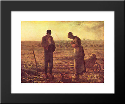 The Angelus, c.1859 15x13 Black Wood Framed Art Print by Jean Francois Millet
