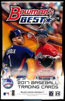 LOT OF (2) 2017 Bowman's Best Unopened Packs Brand New