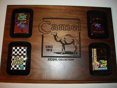 Camel Original Zippo Lighters/new/sealed With Camel Wood Display L@@k!!!!