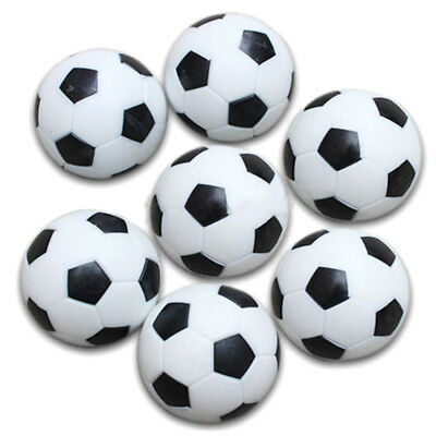 5x Plastic 32mm Soccer Indoor Table Football Ball Replace Black+white Q2V5