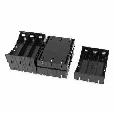 5 Pcs Black Plastic 3 x 3.7V 18650 Batteries 6 Pin Battery Holder Case D9B1