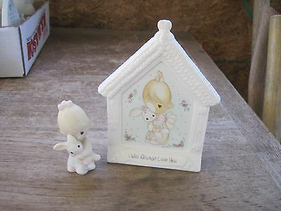 """1994 Precious Moments/Enesco, 2 pcs., """"I Will Always Love You"""", Perfect 4 Easter"""