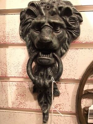 Cast Iron Small Lion Face Door Knocker