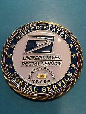 "USPS 2"" Challenge Award Coins (5 to 30 Years Service)+ 37 Years"