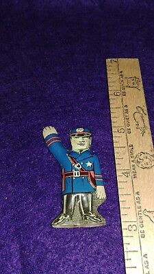 "Cracker Jack Tin Litho Policeman--2-3/16"" Tall--Excellent Condition!"